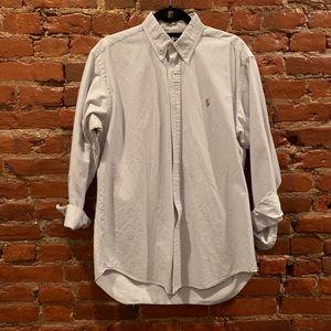 Men's Ralph Lauren Polo striped button down shirt